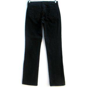 NYDJ Slim Straight Stretch Embellished Tag Sz 10